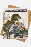 Funny Birthday Card, DINOSAURS HAVE A BIG ONE