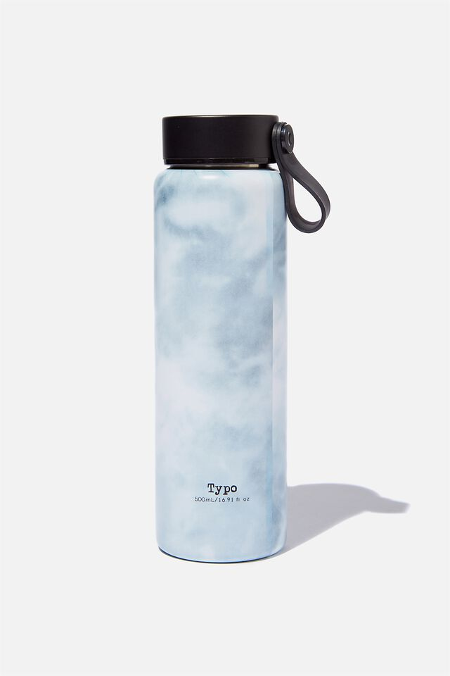 On The Move Metal Drink Bottle 500Ml, SPACEY TIE DYE COOL GREY