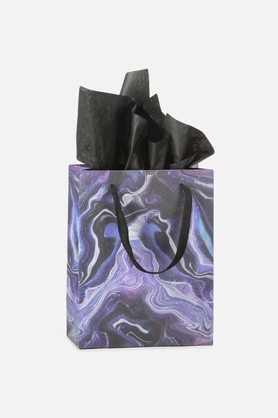 Small Gift Bag with Tissue Paper, MOON MARBLE