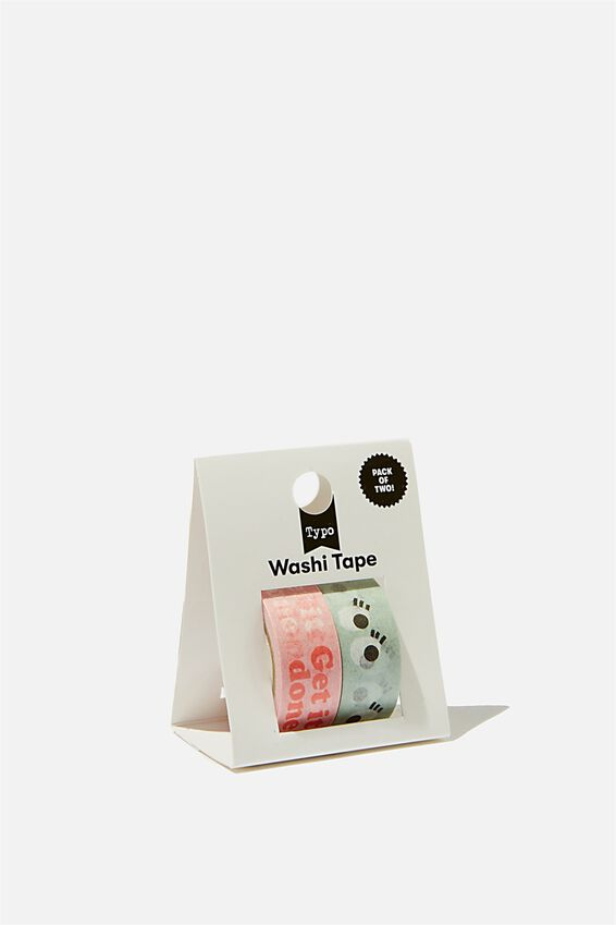 Washi Tape 2Pk, SMILEY GET IT DONE