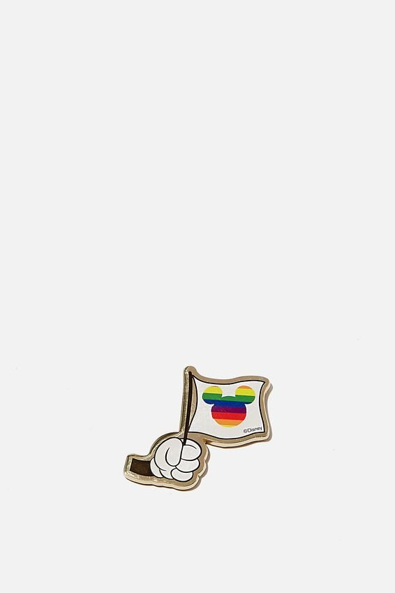 Disney Metal Sticker, LCN DIS PD RAINBOW FLAG