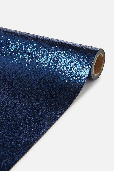Premium Table Runner 2.2M X 26Cm, MIDNIGHT BLUE GLITTER