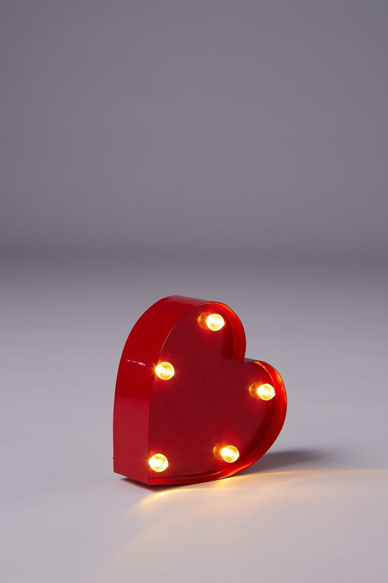 Shaped Mini Marquee Light, RED HEART