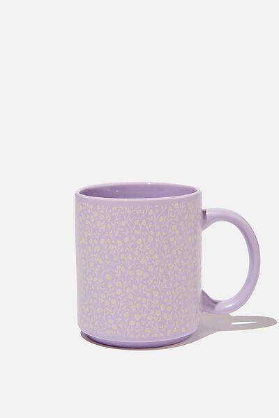 Daily Mug, WASHED LILAC MEADOW DITSY