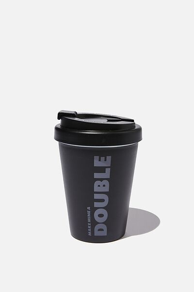 Take Me Away Mug, BLACK MAKE MINE A DOUBLE