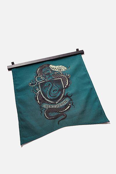Banner Wall Flag, LCN WB HP SLYTHERIN