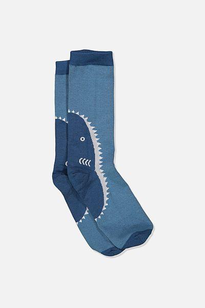 Mens Novelty Socks, SHARK HEEL