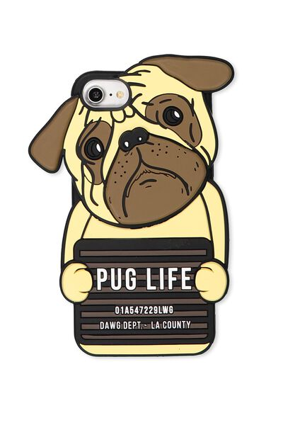 Shaped Silicone Phone Cover Universal 6,7,8, PUG LIFE