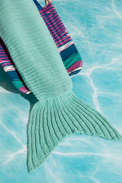 Mermaid Blanket Throw, BLUE