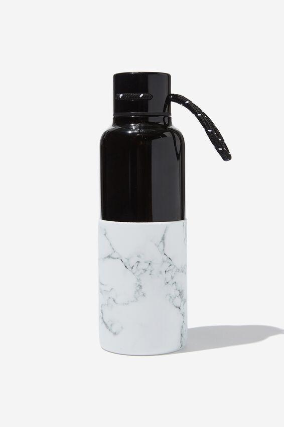 The Loop Metal Drink Bottle, MARBLE