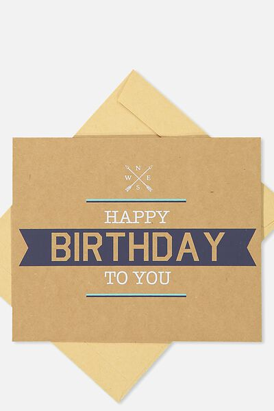 Nice Birthday Card, COMPASS