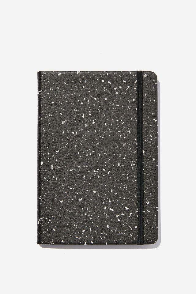 """A5 Buffalo Journal (5.8"""" x 8.2""""), SPECKLE TERRAZZO BLACK"""
