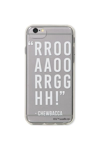 Transparent Phone Cover Universal 6,7,8, LCN CHEWBACCA