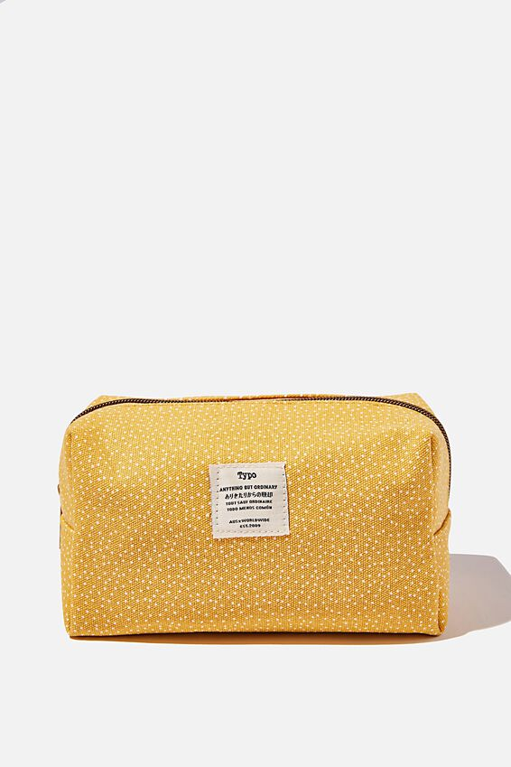 Brooklyn Pencil Case, MUSTARD SPOT