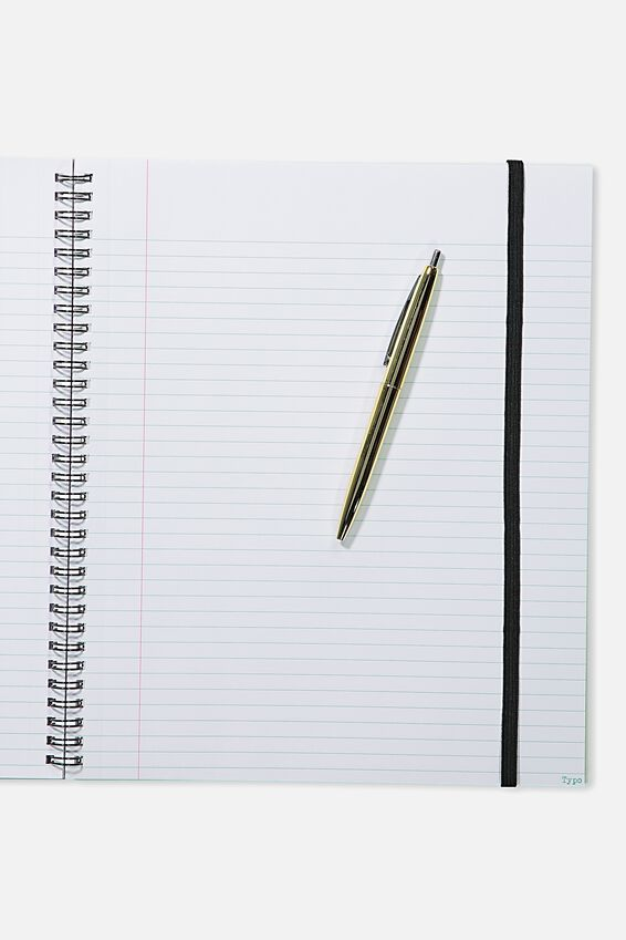 College Ruled Spinout Notebook V, MARBLE HAPPY