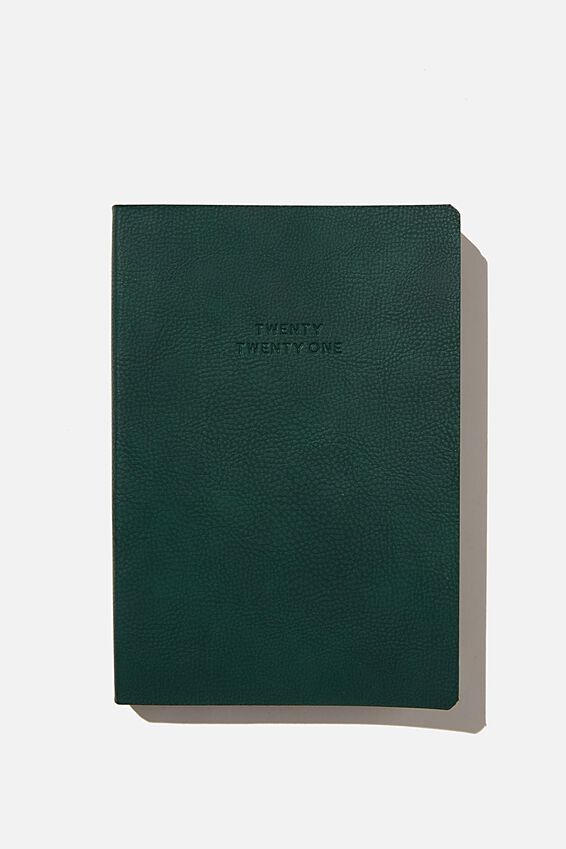 2021 Soft A5 Daily Buffalo Diary, DEEP GREEN