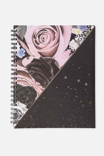 A4 Campus Notebook - 240 Pages, FLORAL SPLATTER SPLICE