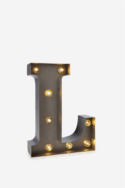 Small Marquee Letter Lights 23cm, SILVER L