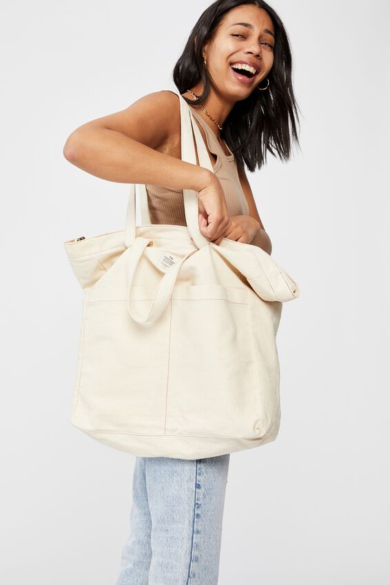 The Studio Tote Bag, NATURAL