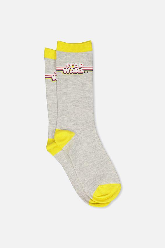 Mens Novelty Socks, LCN STAR WARS LOGO 2