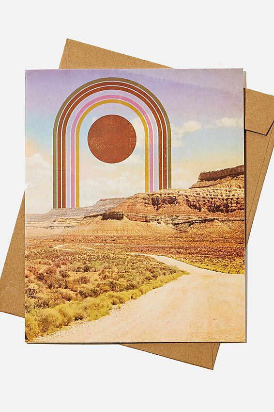 Blank Card, RAINBOW DESERT