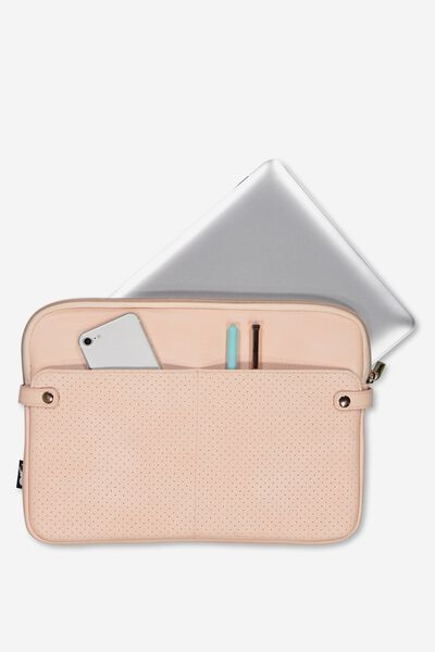 Varsity Laptop Case 13 Inch, BLUSH PERFORATED