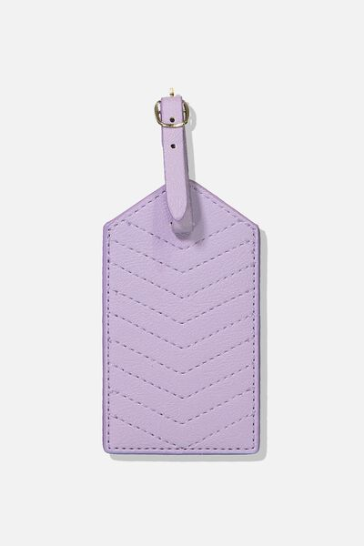 Luggage Tag, LILAC QUILT