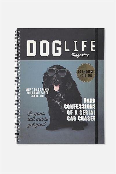 A4 Spinout Notebook - 120 Pages, DOG LIFE MAG