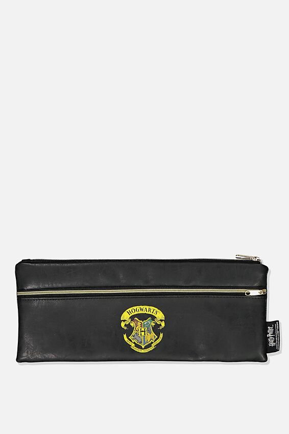 Harry Potter Patti Pencil Case, LCN WB HPO BLACK HOGWARTS CREST