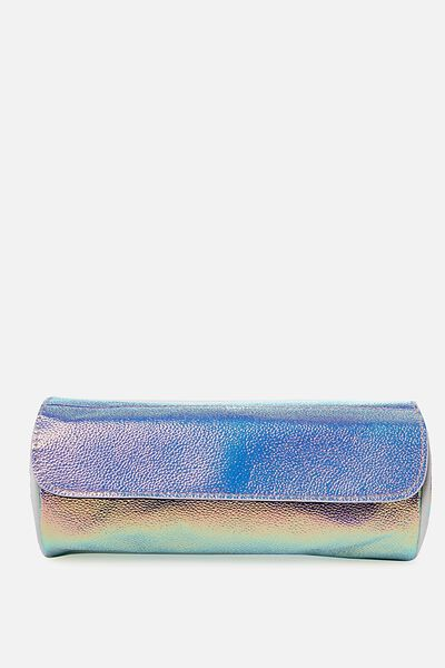 Roll Up Cosmetic Bag, IRIDESCENT
