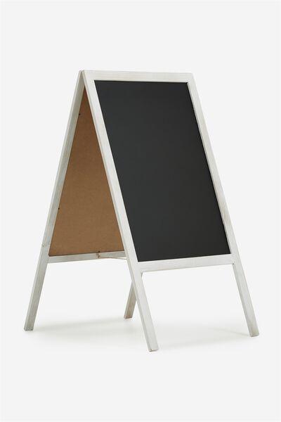 A1 Chalkboard, WHITE WASH