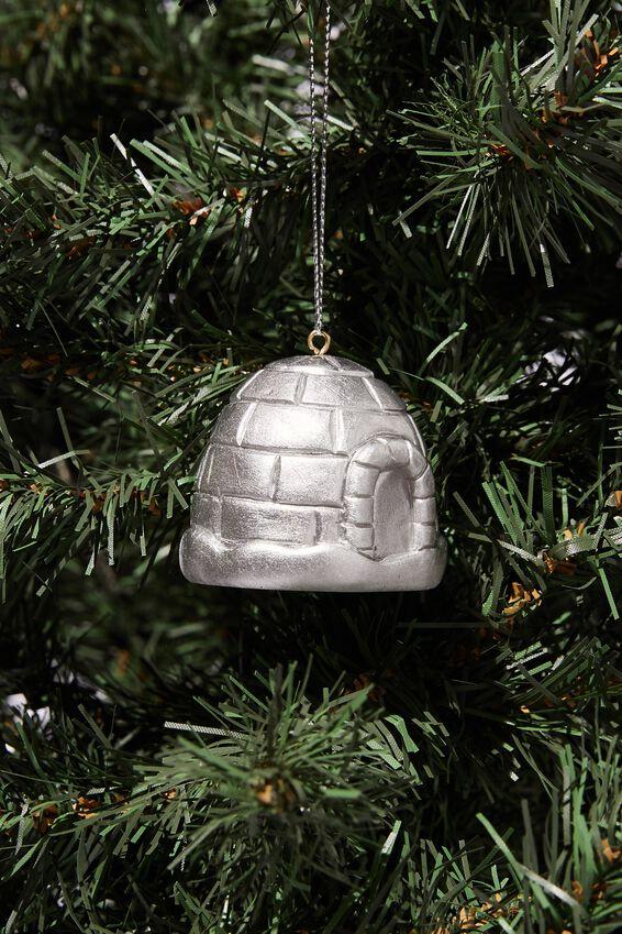 Resin Christmas Ornament, IGLOO