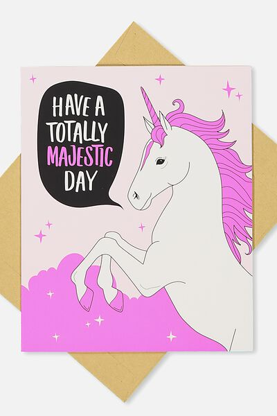 Nice Birthday Card, TOTALLY MAJESTIC DAY