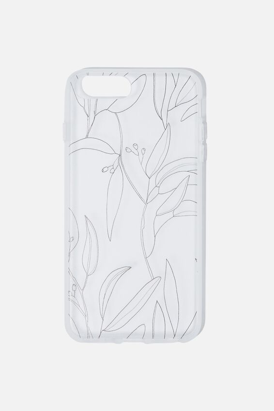 Snap On Protective Phone Case 6,7,8,Se Plus, GUMNUT LEAVES