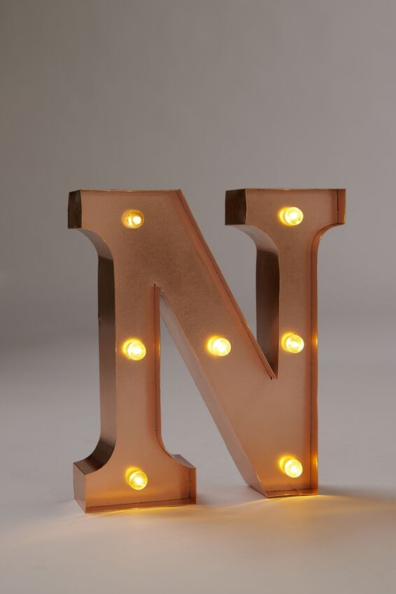 Marquee Letter Lights Premium 6.3inch Midi, ROSE GOLD N