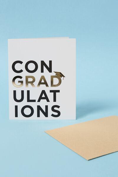 Graduation Card, CON GRAD ULATIONS