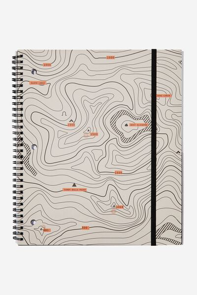 College Ruled Spinout Notebook V, TOPOGRAPHICAL MAP!