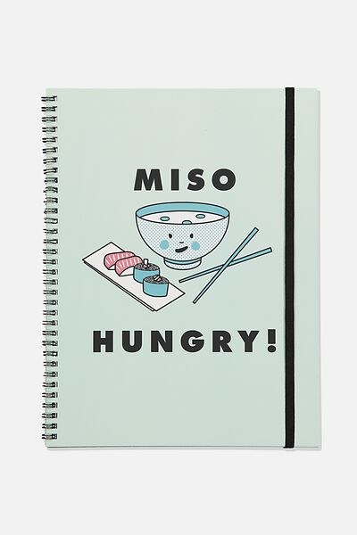 A4 Spinout Notebook Recycled, TBAR MISO HUNGRY