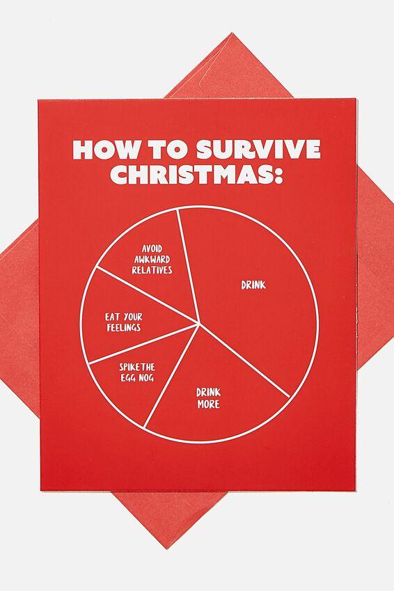 Christmas Card 2020, SURVIVE CHRISTMAS GRAPH!
