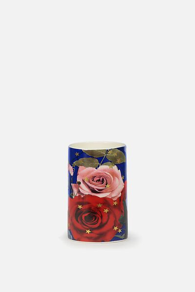 Pen Holder, NAVY FLORAL