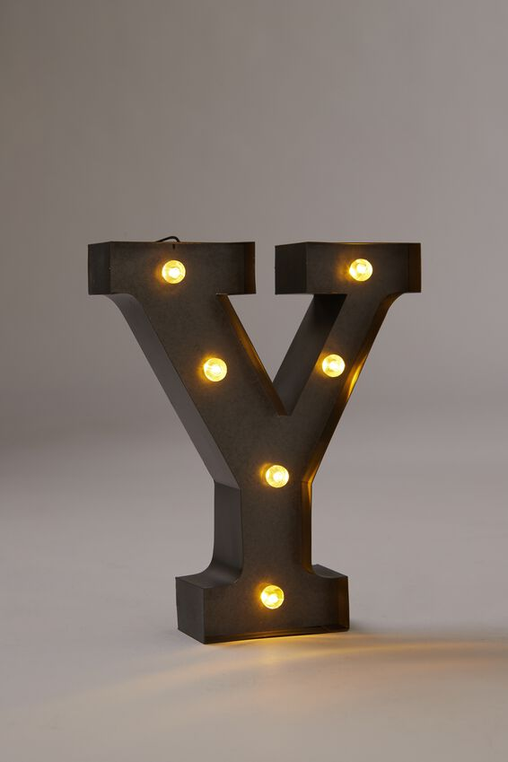 Midi Marquee Letter Lights 6.3inch, SILVER Y