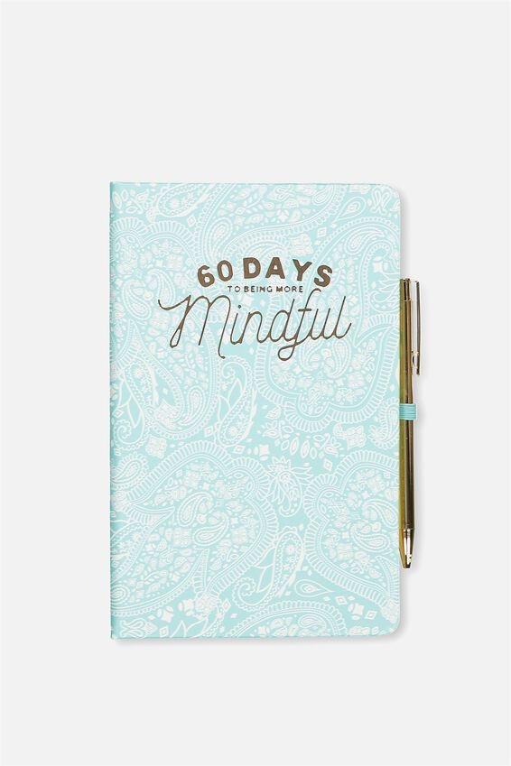 Boxed A5 Premium Activity Journal, BLUE LACE MINDFUL