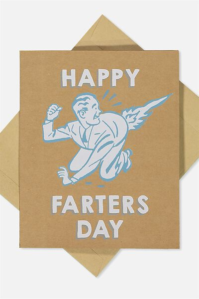 Fathers Day Card, HAPPY FARTERS DAY