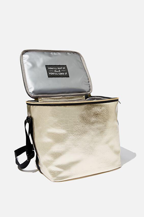 Tall Cooler Bag, GOLD