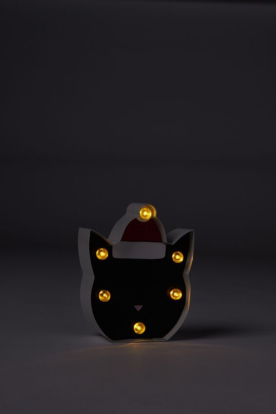 Shaped Mini Marquee Light, CHRISTMAS CAT