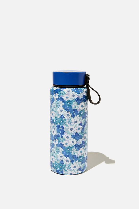 On The Move Metal Drink Bottle 350Ml, DITSY CORNFLOWER