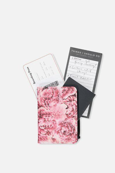 Classic Passport Holder, PINK FLORAL