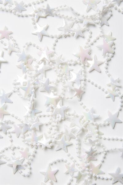 5M Xmas Tree Garland, IRRIDESCENT STARS