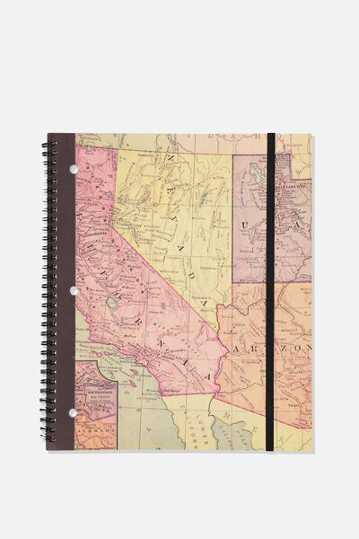 College Ruled Spinout Notebook V, US STATES