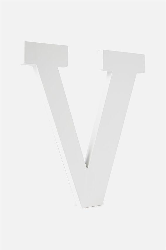 Large Letterpress Letter, WHITE V